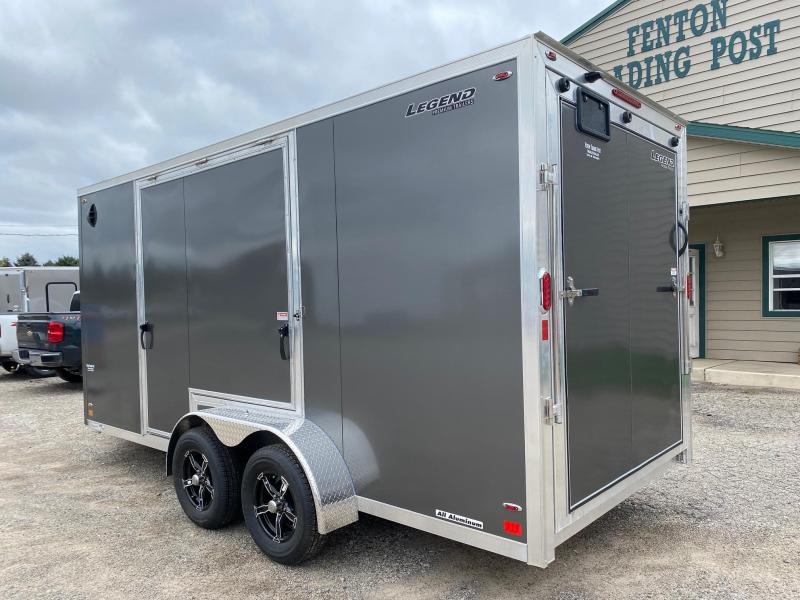 2022 Legend Trailers 7x19 (16' Box + 3' V-Nose) Enclosed Cargo Trailer with Gull Wing Door