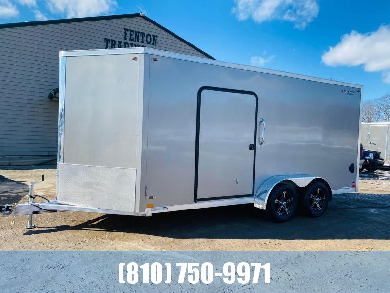 2021 Legend Trailers 7x19 (16' Box + 3' V-Nose) All Aluminum Enclosed Cargo Trailer