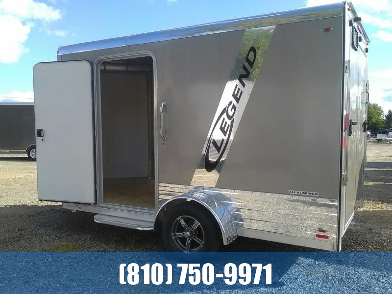 REDUCED 2019 Legend 7x15 Deluxe V-Nose Aluminum Enclosed Trailer