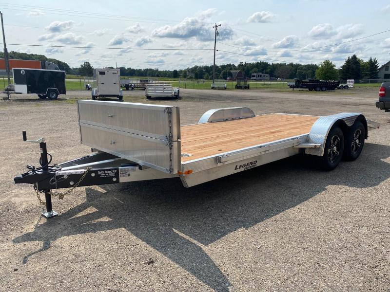 2022 Legend Trailers 7x18 Aluminum Car Hauler / Racing Trailer