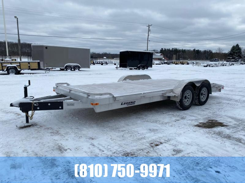 2021 Legend Trailers 7x18 Aluminum Car Hauler with Wood Deck