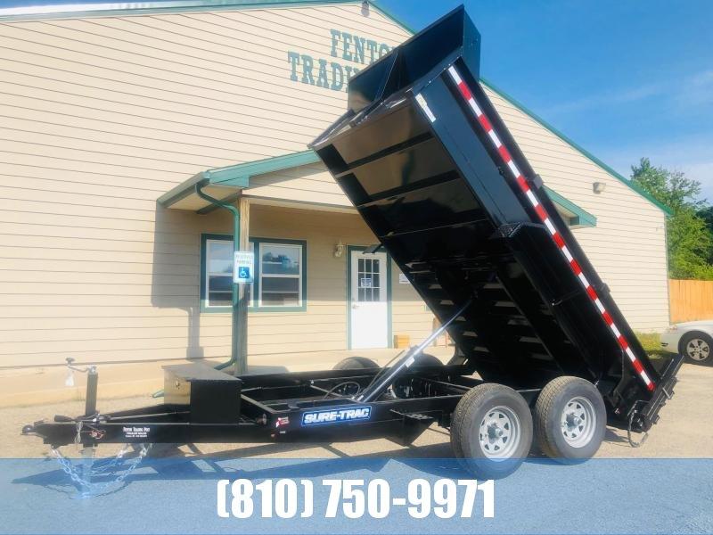 2021 Sure-Trac 6 X 12 10K SD Low Profile Dump Dump Trailer