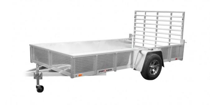 2021 Sport Haven 6x12 Deluxe Aluminum Utility Trailer with ATP Sides