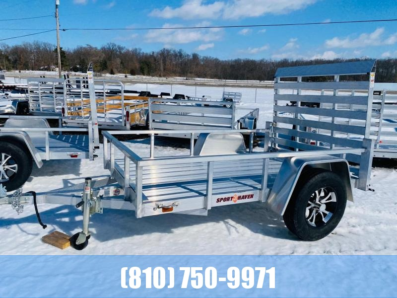 2021 Sport Haven 5x8 Deluxe All Aluminum Utility Trailer