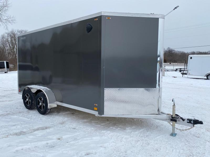 2021 Legend Trailers 7x17 (7x14+3' V-Nose) Flat-Top V-Nose Aluminum Enclosed Cargo Trailer