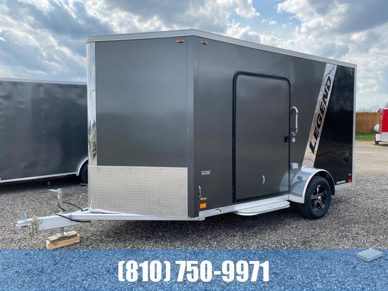 2021 Legend Aluminum 7x15 (7x12' Box + 3' V-Nose) Flat Top V-Nose Enclosed Cargo Trailer