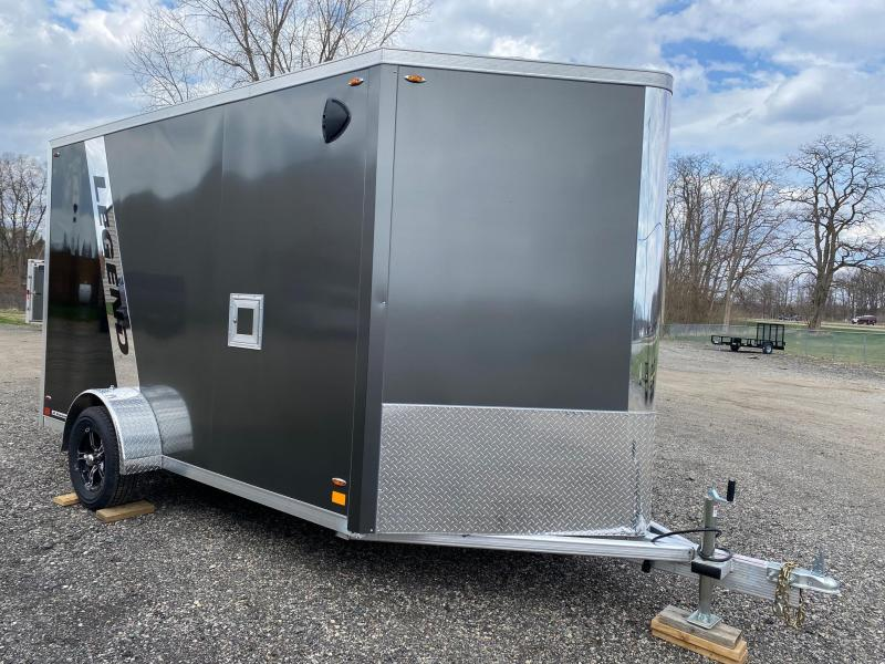 2021 Legend Aluminum 7x15 (7x12' Box + 3' V-Nose) Flat Top V-Nose Enclosed Cargo Trailer