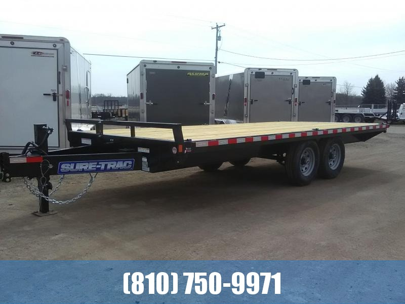 2020 Sure-Trac 8.5 x 18 Standard Duty Flatbed Deckover Flatbed Trailer