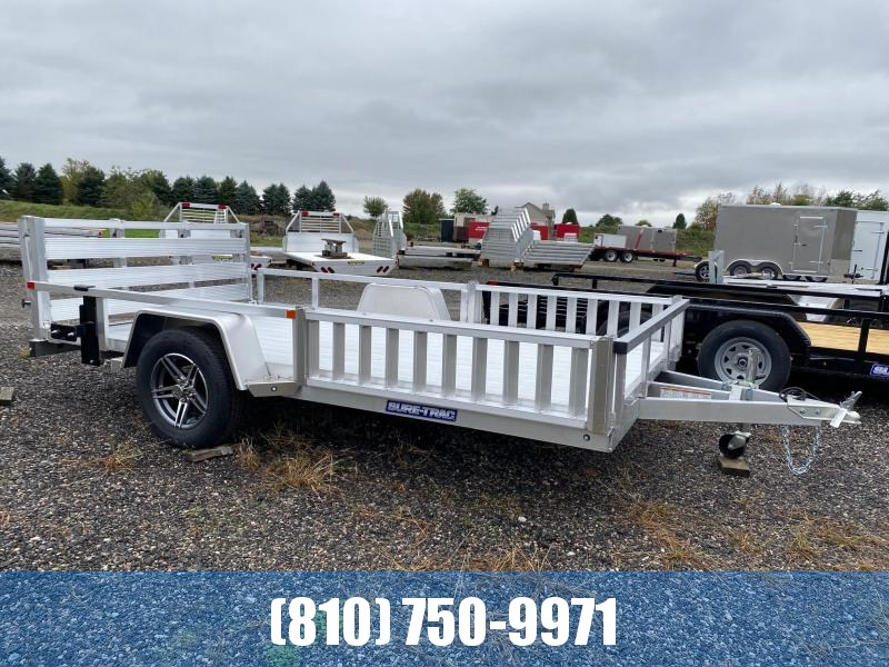 2022 Sure-Trac 7X12 Aluminum ATV Utility Trailer with Side Loading Ramps