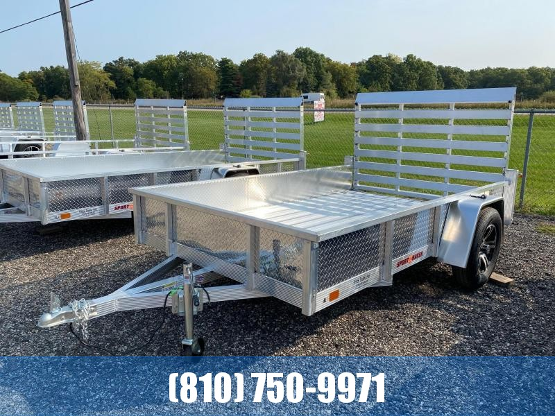 2021 Sport Haven AUT610DS 6x10 Deluxe Aluminum Utility Trailer with Sides