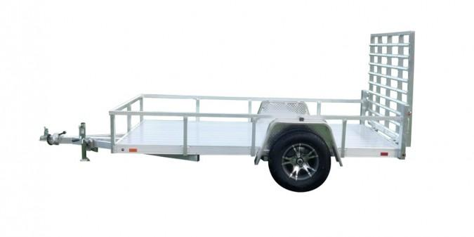 2021 Sport Haven 6x10 Deluxe All Aluminum Utility Trailer