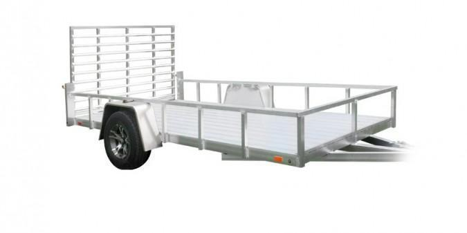 2021 Sport Haven 6x12 Deluxe All Aluminum Utility Trailer