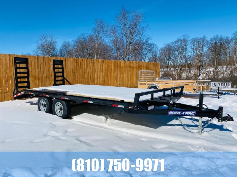 2021 Sure-Trac 8.5x15+3' Beavertail 10K Deckover Equipment Trailer