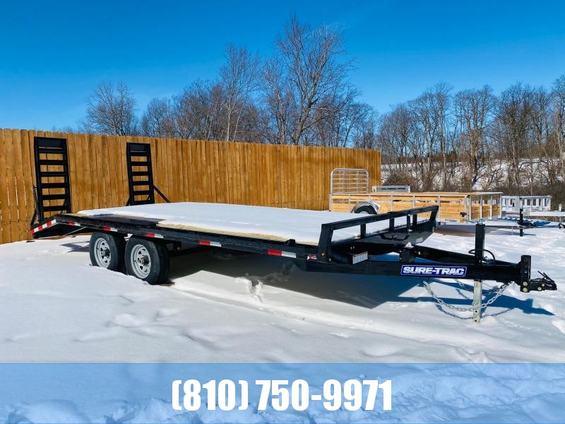 2021 Sure-Trac 8.5x15+3' Beavertail 10K Deckover Equipment Trailer