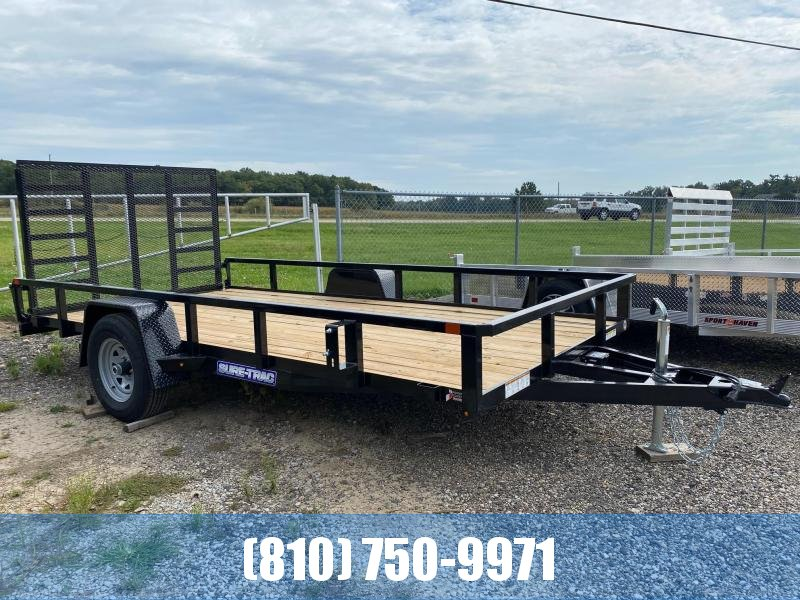 2022 Sure-Trac 7x14 5K Tube Top Utility Trailer with Brakes