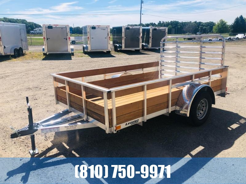 2021 Legend Trailers 6X10 Aluminum Utility Trailer with Wood Sides