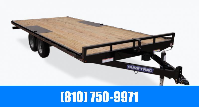 2021 Sure-Trac 8.5x10 10K Flatbed Trailer