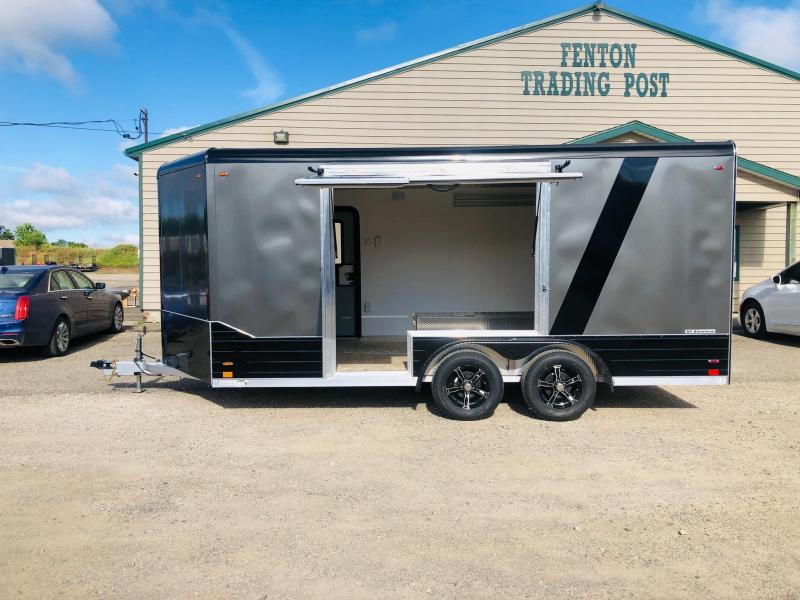 2020 Legend Trailers 8X19 Deluxe V-Nose Enclosed Cargo Trailer with Gull Wing Escape Door
