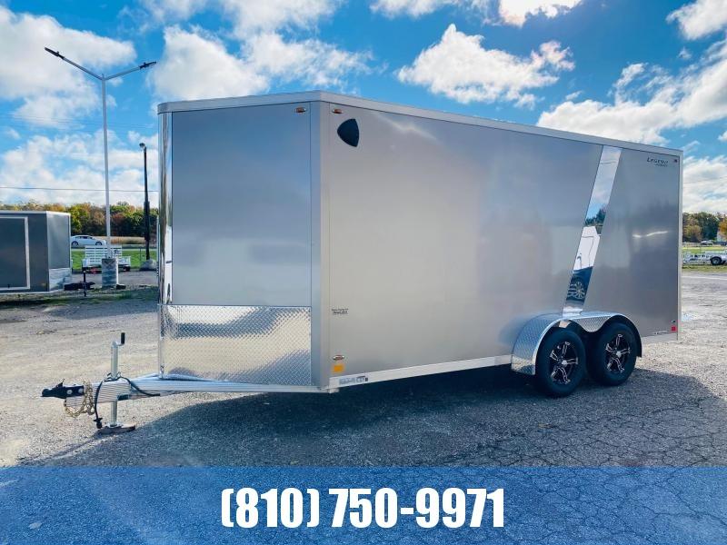 2022 Legend Trailers 7x19 (16' Box + 3' V) Flat Top V-Nose Aluminum Enclosed Cargo Trailer