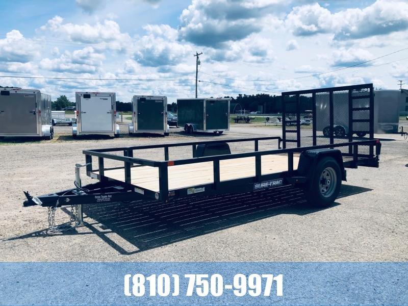 2021 Sure-Trac ST8214TA-B-050 Utility Trailer