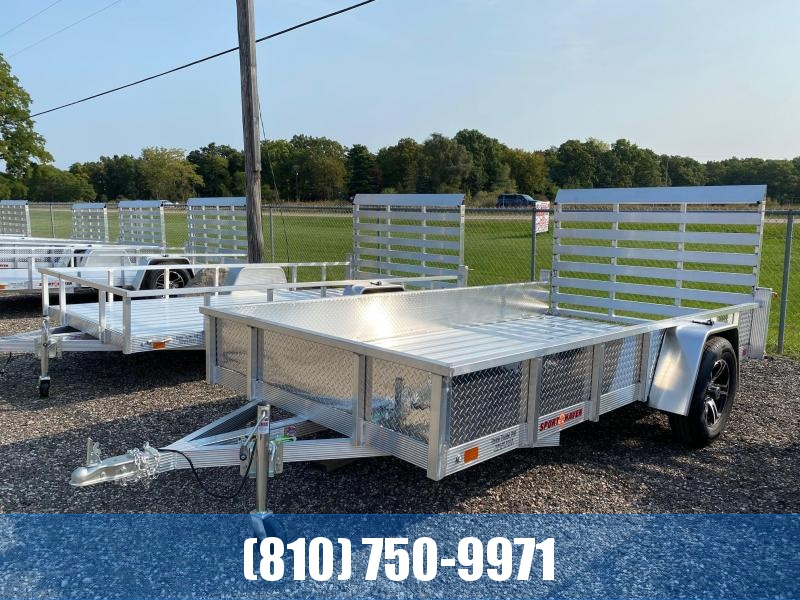 2021 Sport Haven AUT612DS 6x12 Deluxe Aluminum Utility Trailer with Sides
