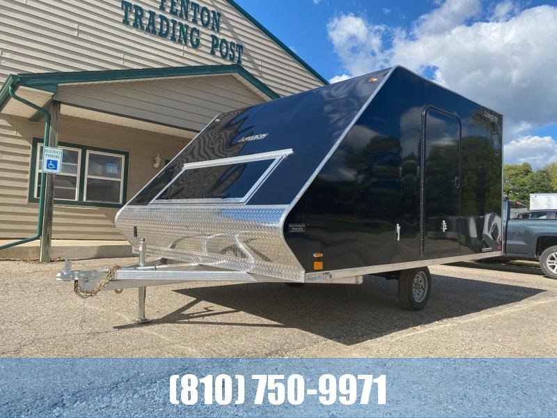 2021 Legend Trailers 8.5X13 Sport Lite Hybrid Snowmobile Trailer with Slides & Mats