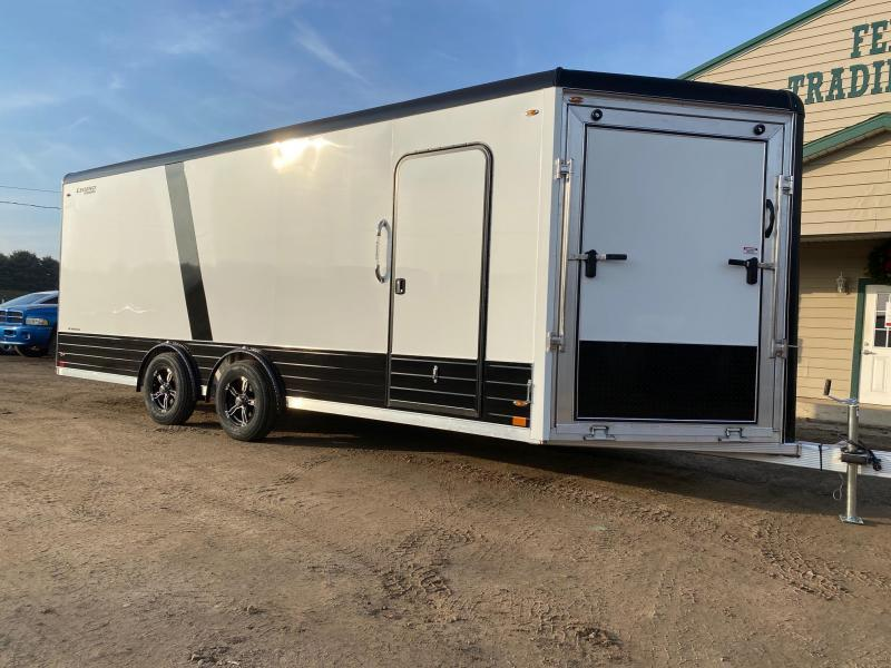 2021 Legend Trailers 8x24 Deluxe V-Nose Snowmobile Trailer