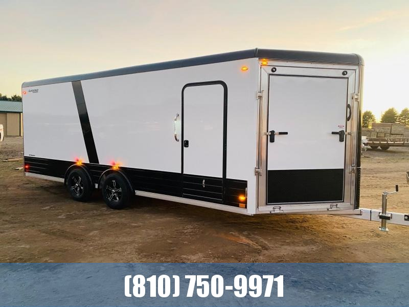 2021 Legend Trailers 8x24 Deluxe V-Nose Snowmobile Trailer