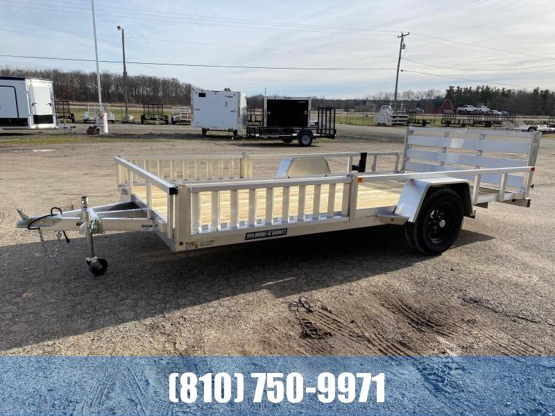 2021 Sure-Trac 7X14 Aluminum ATV / Utility Trailer