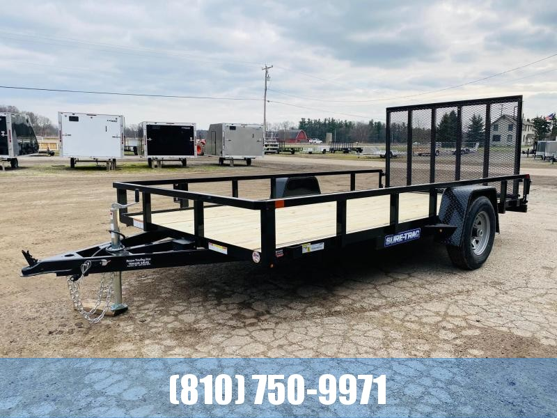2021 Sure-Trac 7x14 5K Tube Top Utility Trailer with Brakes
