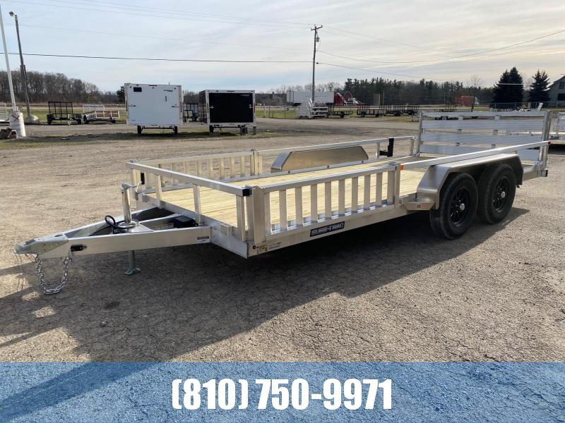2021 Sure-Trac 7X16 7K Tandem Aluminum Utility / ATV Trailer