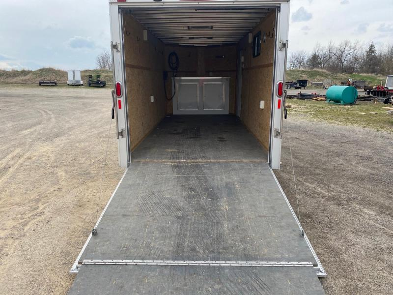 Used 2015 Legend 7x19 (16' Box + 3' V-Nose) All-Aluminum Flat Top V-Nose Enclosed Cargo Trailer