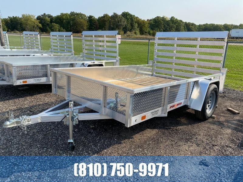 2021 Sport Haven AUT610S 6x10 Aluminum Utility Trailer with Sides