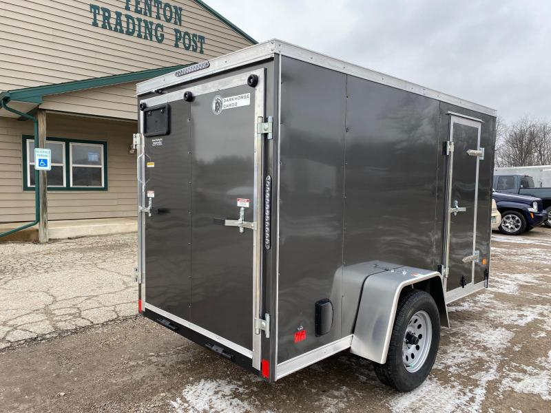 2021 Darkhorse Cargo 5x10 V-Nose Enclosed Cargo Trailer with Side Door