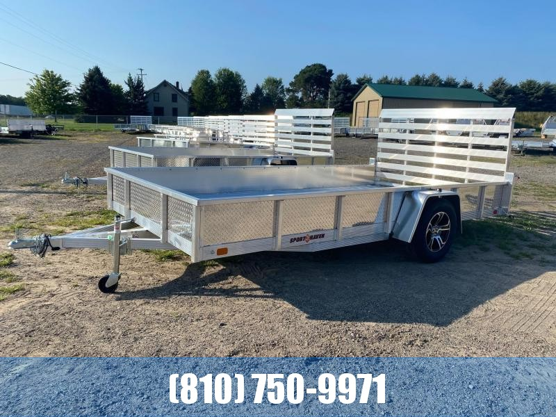 2022 Sport Haven 7x14 Aluminum Deluxe Utility Trailer with Sides