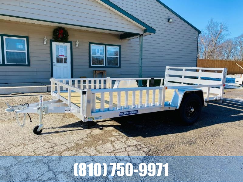 2021 Sure-Trac 7X12 Aluminum ATV Utility Trailer with Side Loading Ramps