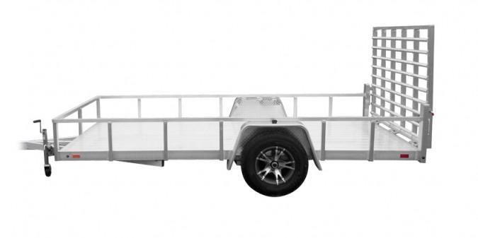 2021 Sport Haven 7x12 Deluxe All Aluminum Utility Trailer