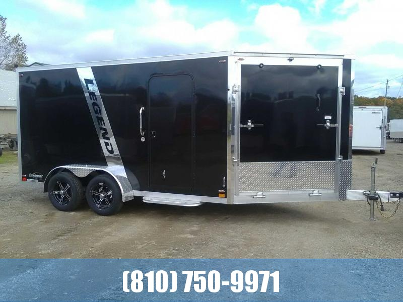 2020 Legend 7x19 Explorer 2-Place Inline Snowmobile Trailer