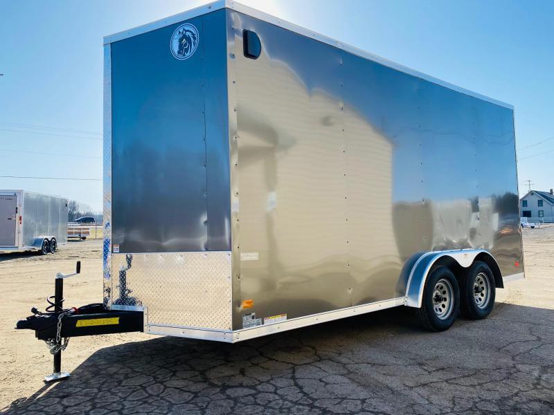 """2022 Darkhorse Cargo 7.5x16 Enclosed Cargo Trailer with 87"""" Rear Door Opening"""