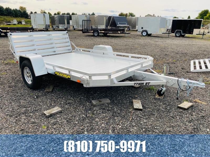 2021 Aluma 7710H Utility Trailer with Bi-Fold Tailgate