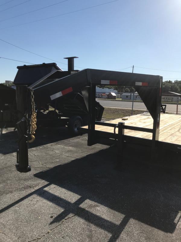 2021 TDO 8x20 Gooseneck Deckover / 14K /  Foldup Ramps