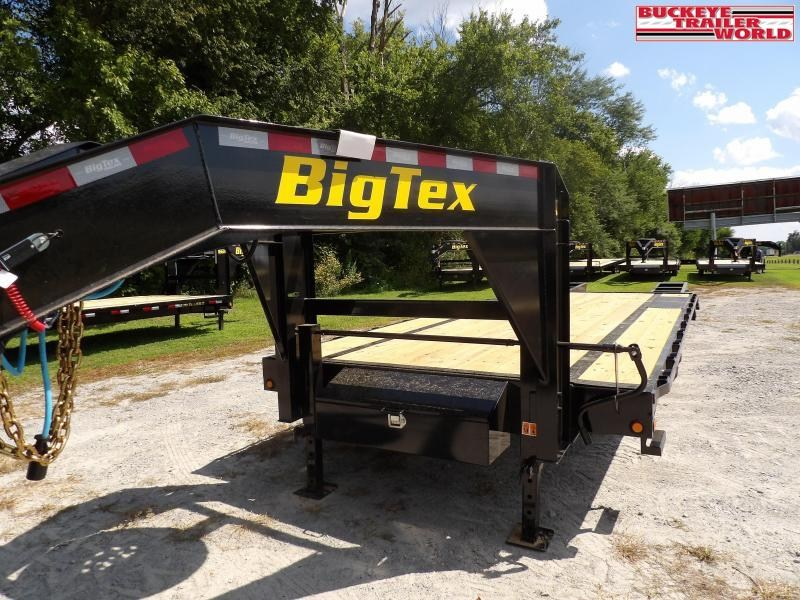 2022 Big Tex Trailers 14GN-20+5 w/ Standard Flip Over Ramps Flatbed Trailer