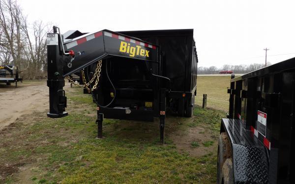 "2020 Big Tex Trailers 25DU 92"" x 18' Gooseneck Dump Trailer"