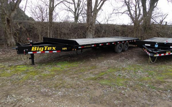"2019 Big Tex Trailers 14PH 102"" x 20'+5' Pintle Flatbed Trailer"