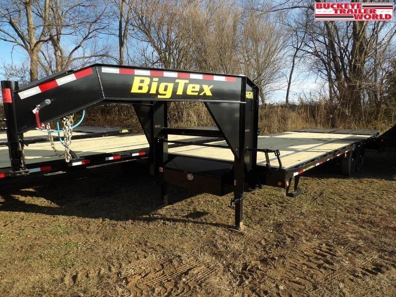 "2021 Big Tex Trailers 14GN-102""x20+5 Flatbed Trailer"