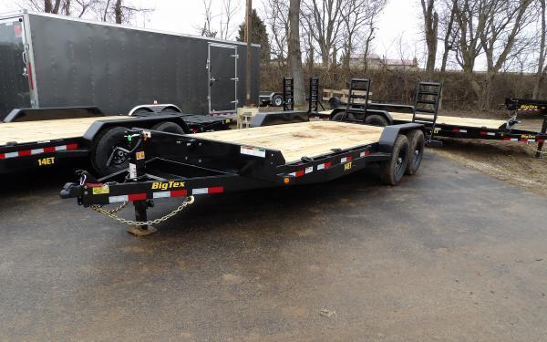 "2020 Big Tex Trailers 14ET 83"" x 20 14K Equipment Trailer w/ Knee Ramps"