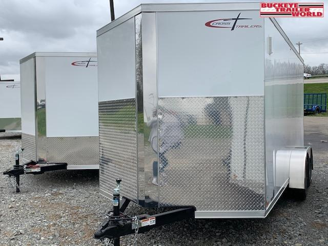 """2022 Cross 7x14 Alpha TA Upgraded w/ 6"""" Extra Height Enclosed Cargo Trailer"""