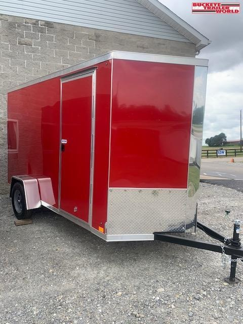 2021 Cross Trailers 6x12 Alpha Red Enclosed Cargo Trailer
