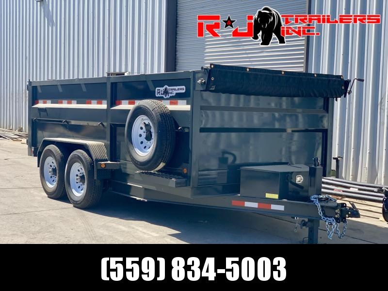 *2021 R&J Custom 7'x14' 14k HD Dump Trailer *  *3' FORMED WALLS*
