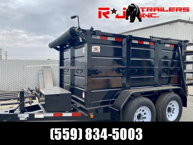 2021 R&J 5x8 10k 4' Wall Dump Trailer